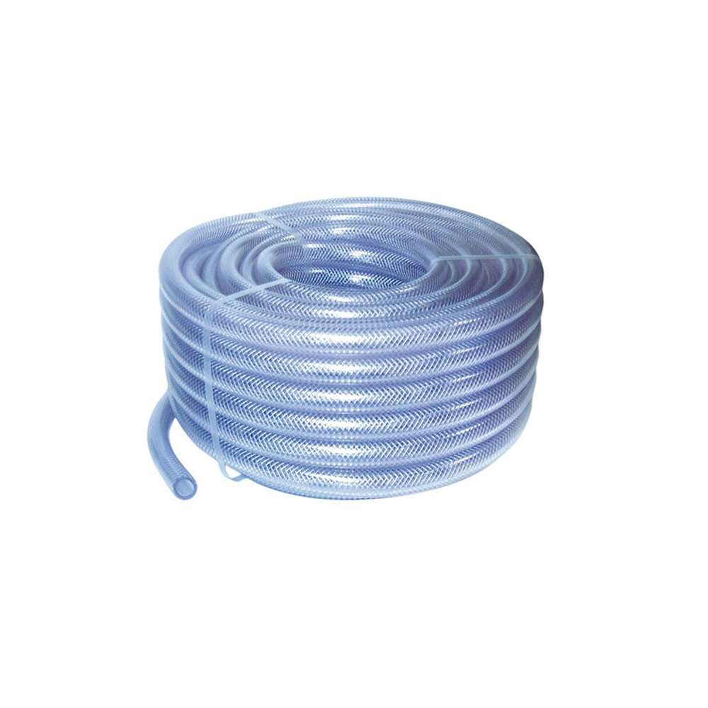 PVC hose with polyester reinforcements