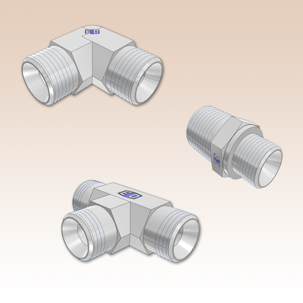 Male adapters bspp ° cone bspt npt
