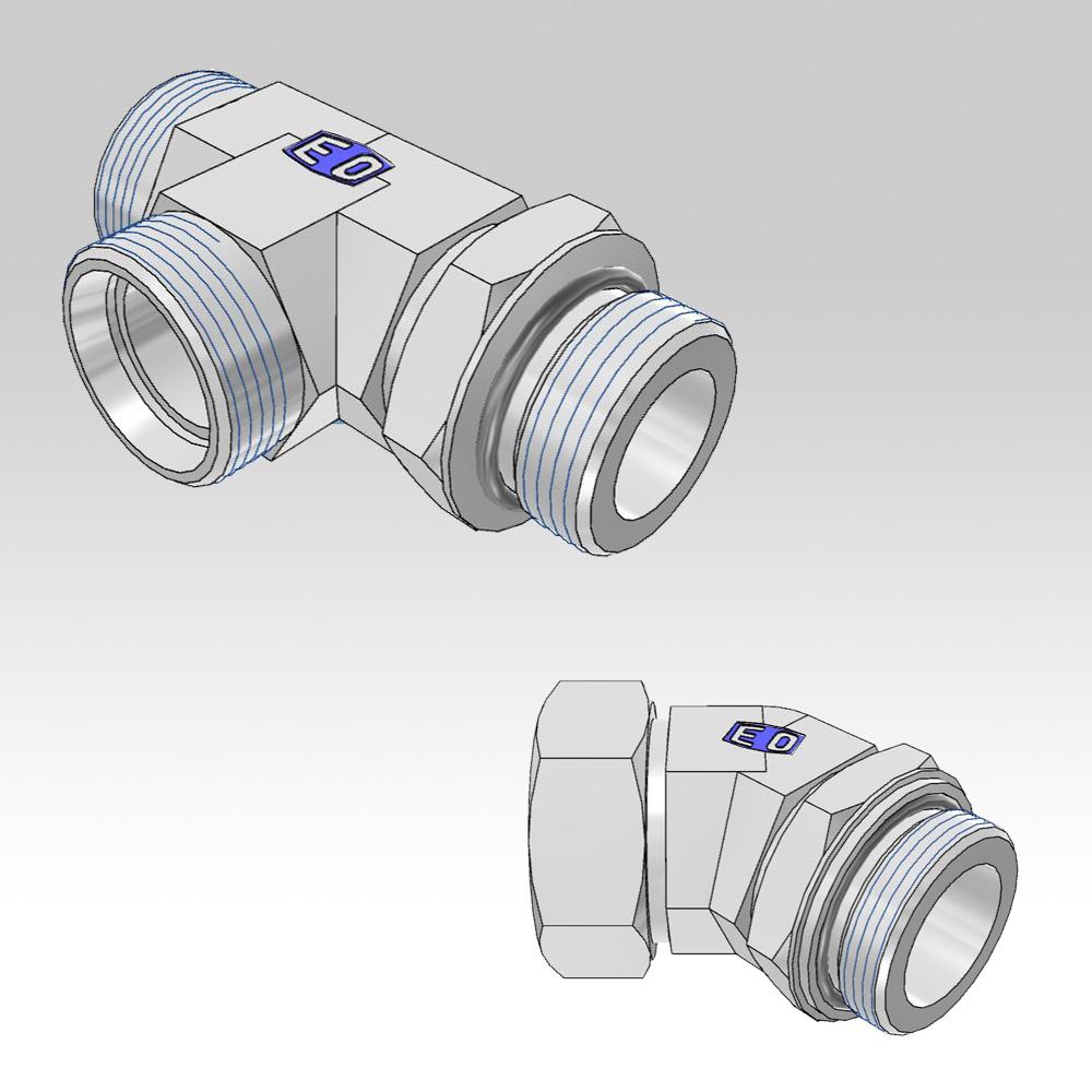 Ermeto din locknut adjustable high pressure tube fittings