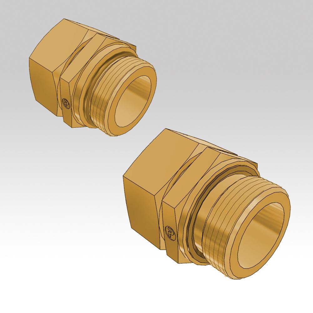 Ermeto din male stud high pressure hydraulic tube fittings