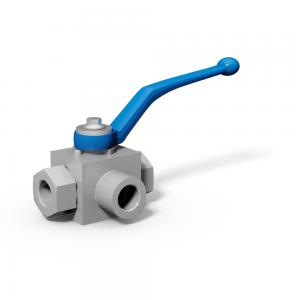3/2-way selector ball valves with threaded connections