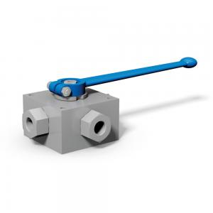 3-way and 4-way ball valves with threaded connections