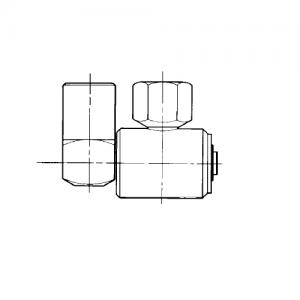 Banjo 90 high pressure swivel coupling - type 3
