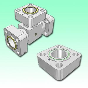 Complete flange connection parts