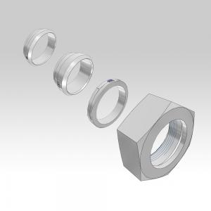 Ermeto DIN fitting components for high pressure hydraulic tube fittings