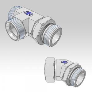 Ermeto DIN Locknut adjustable high pressure tube fittings