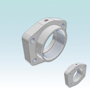 PCFF-G SAE Straight 4 bolt flange with BSPP thread