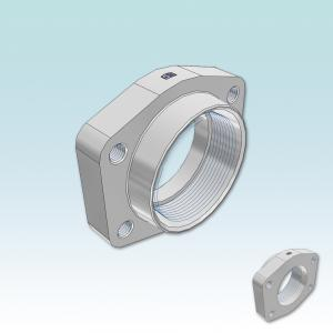 PCFF-N SAE Straight 4 bolt flange with NPT thread