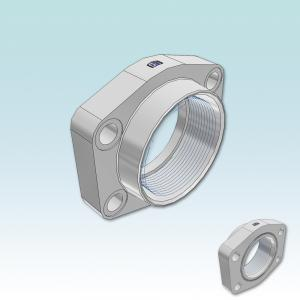 PEFF-G SAE 90° 4 bolt flange with BSPP thread