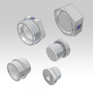 Plugs for Ermeto DIN high pressure hydraulic fittings