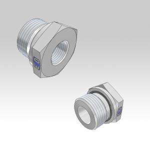 Ermeto DIN Port reducers for high pressure hydraulic tube fittings