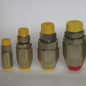 Inline range high pressure swivel coupling