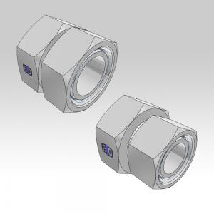 Ermeto DIN swivel to swivel high pressure hydraulic tube fittings