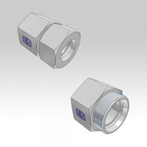 Ermeto DIN tube to female high pressure hydraulic tube fittings