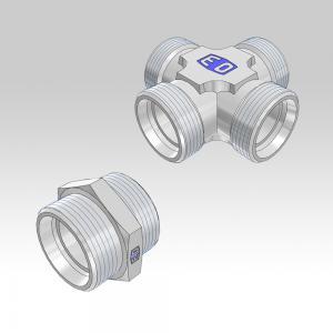 Ermeto DIN tube to tube high pressure hydraulic tube fittings