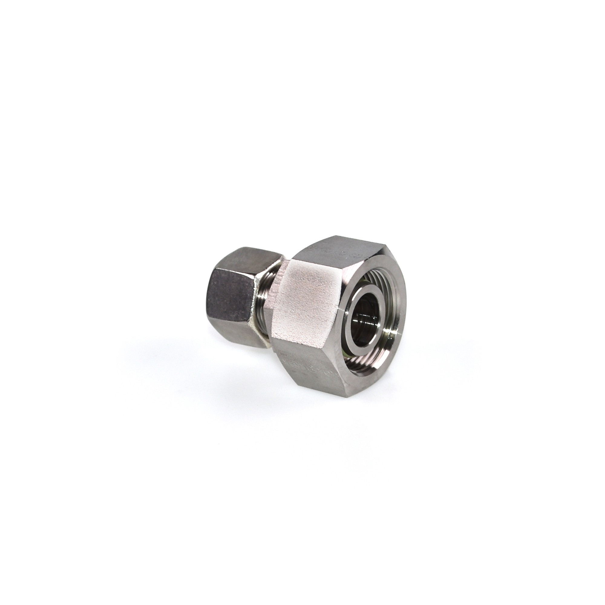 8AN 8AN Male Flare Tee Fitting With AN8 Female Swivel On Side Adaptor Black Aluminum